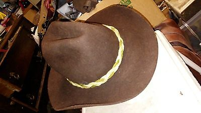 Vintage Western / Cowboy Hat & with band by MILLER BROS; Size  6 3/7;  FAST S&H