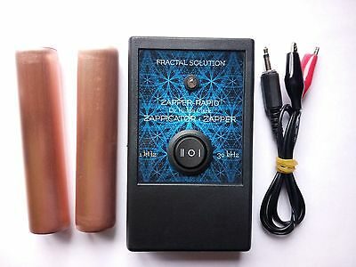 2in1- 30kHz ZAPPER and 1kHz Food ZAPPICATOR Dr. Hulda Clark Fractal Solution