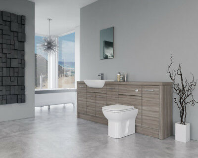 2100Mm Driftwood Bathroom Fitted Furniture S2 Base Units