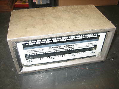Standco Vibrating Reed Tachometer - 1000-2500 2500-5500 - Model H2 - Sticht