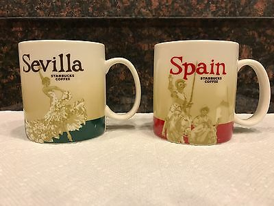 Sevilla & Spain España STARBUCKS Mugs 16 oz  Collector Series City Ceramic Cup