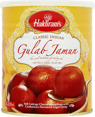 Haldirams Gulab Jamun 1KG - Delicious Indian Sweets - To Celebrate any Festival
