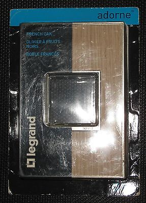 NEW Legrand Adorne French Oak 1-Gang Wall Plate AWM1G2FH4