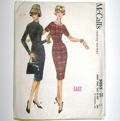 "Bust 34 VTG 1959 Uncut McCall's ""Easy"" Sheath Dress Princess Seam Mad Men Style"