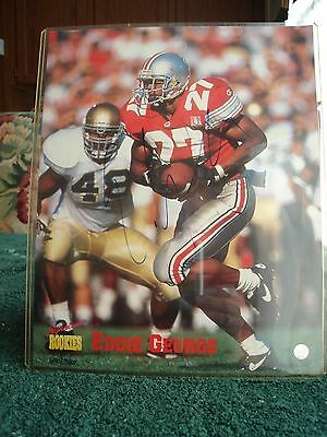Eddie George Rookie Year Autographed 8 x 10 Photo with COA  #690 of 3,500