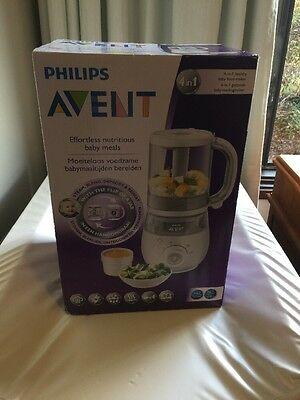 NEW Philips Avent 4 In 1 COMBINED  Steamer Blender Healthy BABY food Maker