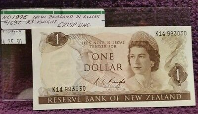 ND 1975 NEW ZEALAND, $1.00 NOTE, Cat.#169c.