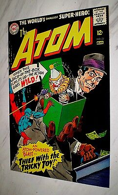 Atom #23 NM 9.4 Cr/OW pages Unrestored 1966 DC Silver age