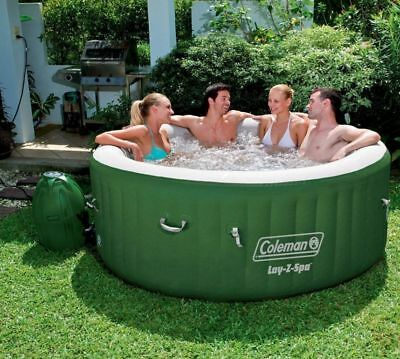 Coleman Outdoor Relax Lay-Z Massage Spa Portable Pool Yard Hot Tub 4 to 6 People