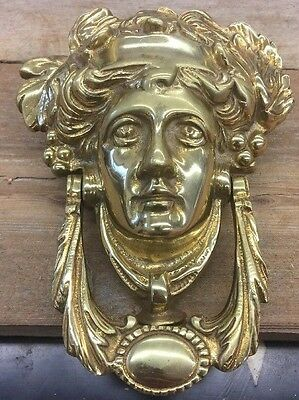 vintage Brass Door Knocker Greek Goddess