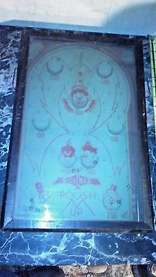 """Nice 1930's """"Double Poosh M Up"""" Tabletop Pinball Game in Good Working Condition"""