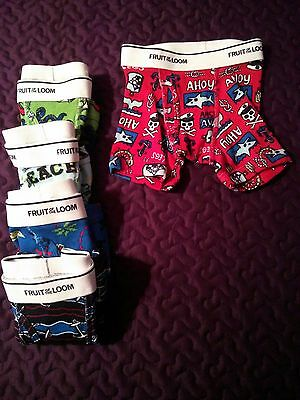 NWOT Boy's Fruit of the Loom Boxer Briefs - Size 2T/3T - 5 Pack