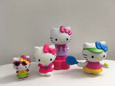 Lot Of 4 Hello Kitty Toy Figures Different Sizes