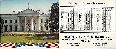 "The White House ""Samuel McKnight Hardware Co."" Advertising Ink Blotter"