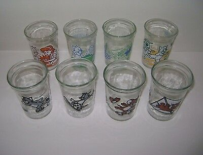 Vintage Welch's Jelly Jar Glasses Tom and Jerry Set Of 8 Different Designs...