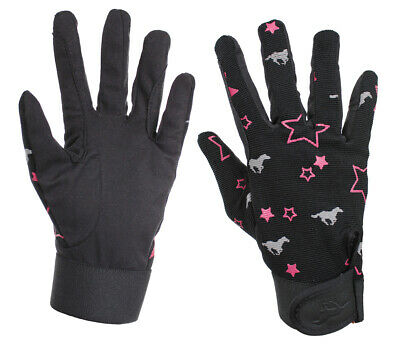RED HORSE Fun Heart Riding Gloves - Amara Leather