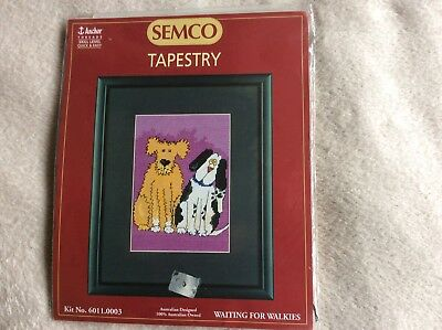 "Tapestry / Embroidery Kit - Semco ""waiting For Walkies"""