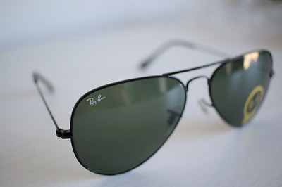 *AUTHENTIC* RayBan RB3025 58-14 Aviator Original Sunglasses L2823 Gold Green
