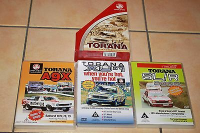 Torana Trilogy 3 DVD SET - Holden Motorsport Box Set - BARGAIN **AS NEW**