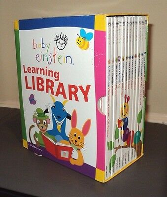 BABY EINSTEIN Learning Library (2004, HB Box Set) 12 Let's Explore Book Kids Lot