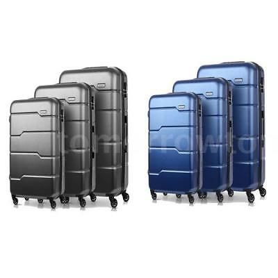 3Pcs Luggage Travel Set Bag ABS+PC Trolley Spinner Suitcase W/TSA Lock New M7G3