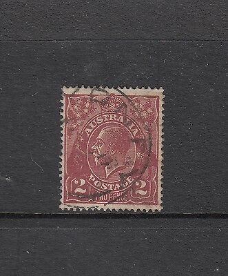 SINGLE WATERMARK 2d Bright Red-brown SG 78a geometrically well centred fine used