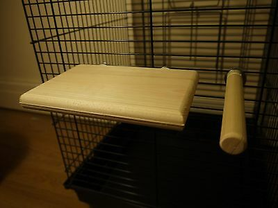 natural wood platform and perch for love birds,cockatiel sized birds