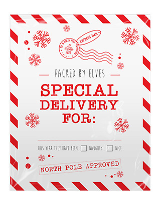 4x Giant Father Christmas Santa Sacks Stocking Bag Gift Present SPECIAL DELIVERY