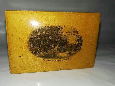 Mauchline Ware Wooden Box Old London Road Hastings