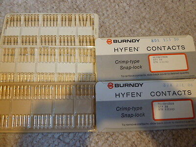 190 Burndy HYFEN Contacts RC20M12D28 Stock# 832303 5 cards