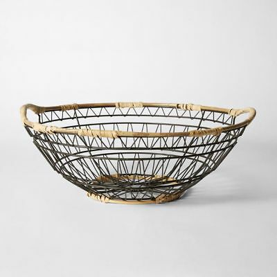 NEW Metal Rattan Bowl