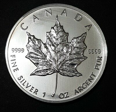 1994 Canadian $5 Silver Coin - 1 oz (0.9999)