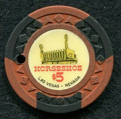 Horse Shoe Club Casino Chip $5 issued 1951 Arodie  Las Vegas, NV Poker Obsolete
