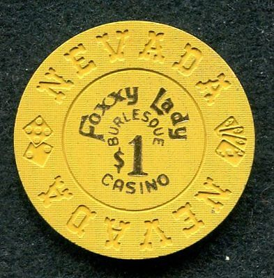 Foxxy Lady Casino $1 Poker Chip Las Vegas, NV Hard to find chip