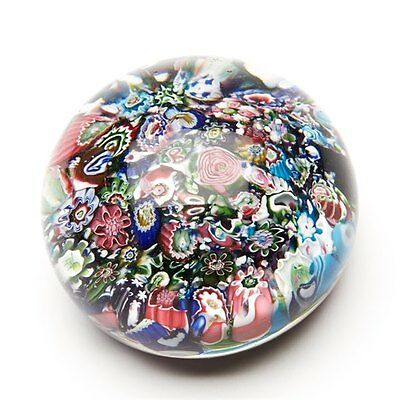 ANTIQUE FRENCH CLICHY SCRAMBLE GLASS PAPERWEIGHT c.1845