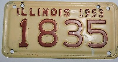 1953 Illinois Motorcycle License Plate