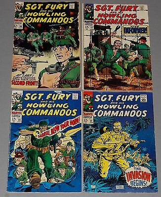 SGT. FURY #50 56 57 58 Marvel Silver Age War Comic 4pc Lot 12cent