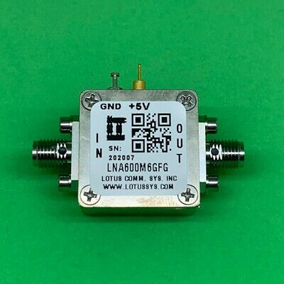 Broadband Low Noise Amplifier 0.9dB NF 600M~6GHz 21dB Gain 2dB Flat Gain