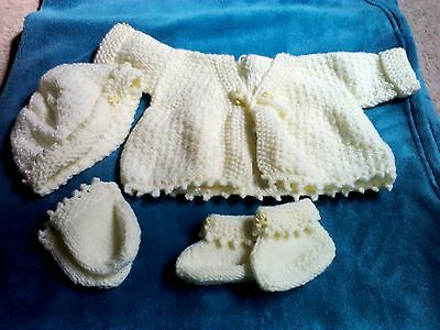 baby clothes 3 6 months hand knitted cardigan • £0 99