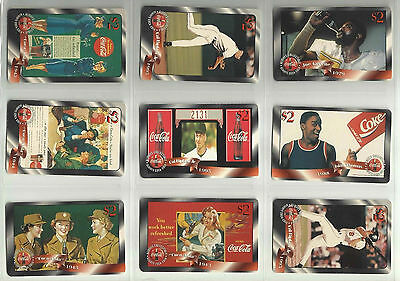 1996 Coca-Cola Coke Sprint $2 Phone Card #1-48 Collector Set - Mint Condition