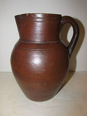 Antique Stoneware Cream Pitcher , Attrib. Great Road, Tennessee Circa 1850