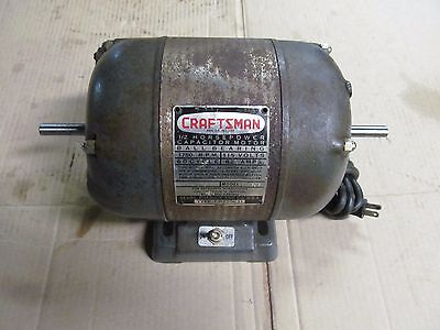 Nos Sears Craftsman 1/2 Hp Capacitor Electric Motor, 1750 Rpm, Made In Usa.