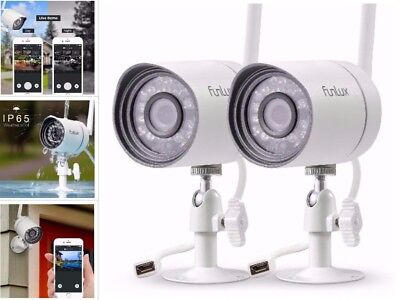 2Pcs Home Wireless Security Video Camera System Motion Alert HD App Night Vision