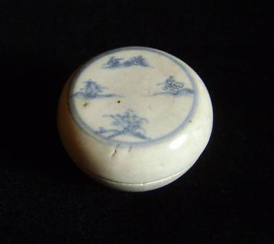 Antique Blue & White Cosmetic Box C.1490 from Vietnamese Hoi An Shipwreck