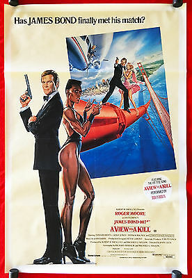 A VIEW TO A KILL - Original Vintage 1985 Australian One-Sheet Movie Poster -Bond