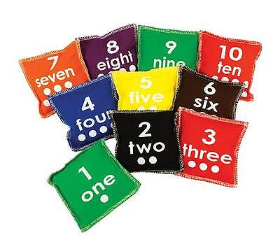 Number 1-10 Toss Bean Bags Set of 10 Maths Teaching Learning Kids Resource Kids