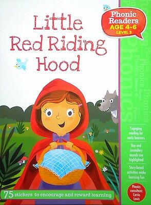 Little Red Riding Hood | Phonics Readers | Age 4-6 | Level 3 Book | 75 Stickers