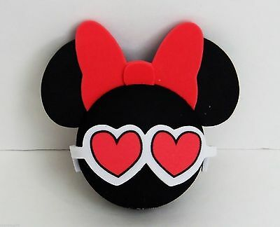 Disney - Minnie Mouse - Minnie Head with Red Bow & Heart Glasses Antenna Topper