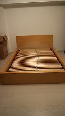 brimnes ikea doppelbett 140x200 wei eur 60 00. Black Bedroom Furniture Sets. Home Design Ideas