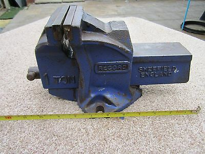 Record One Ton Vice..engineering vice, vintage Record Vice..